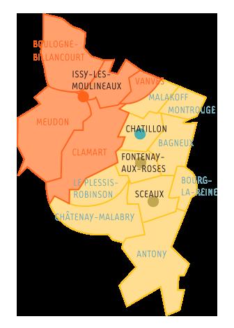 carte des agences dans le 92